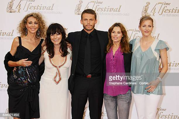 Actors Marisa Berenson Lio Arnaud Binard Toinette Laquiere and Babsie Steger attend the 47th Monte carlo Television Festival