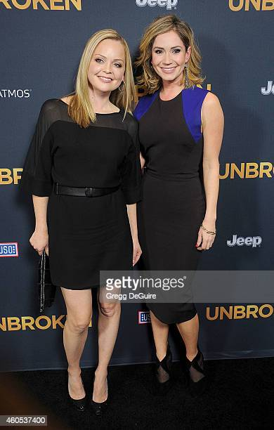 Actors Marisa Coughlan and Ashley Jones arrive at the Los Angeles premiere of 'Unbroken' at The Dolby Theatre on December 15 2014 in Hollywood...