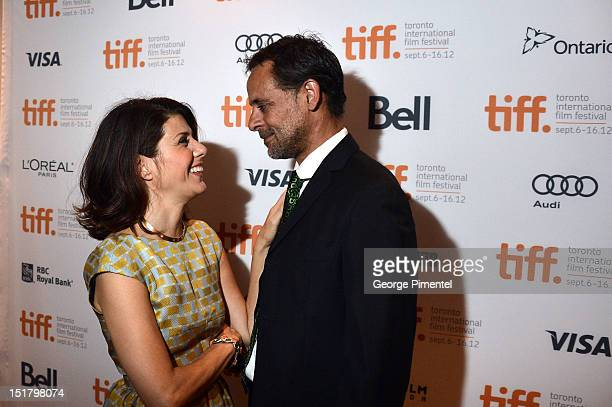 Actors Marisa Tomei and Alexander Siddig arrive at the 'Inescapable' Premiere during the 2012 Toronto International Film Festival at Roy Thomson Hall...