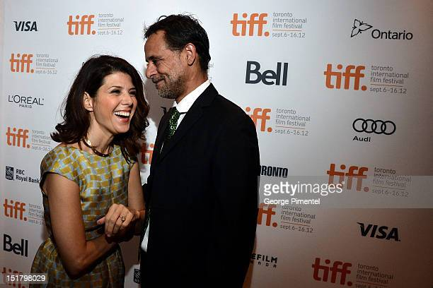 Actors Marisa Tomei and Alexander Siddig arrives at the 'Inescapable' Premiere during the 2012 Toronto International Film Festival at Roy Thomson...