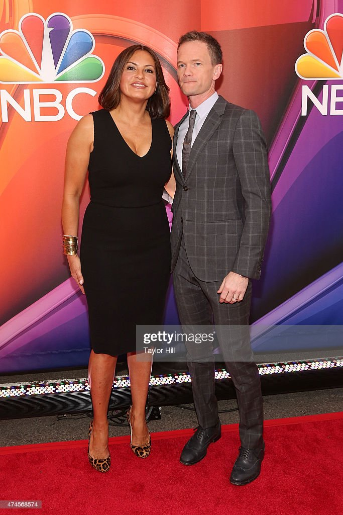 Actors Mariska Hargitay and Neil Patrick Harris attends the 2015 NBC Upfront Presentation Red Carpet Event at Radio City Music Hall on May 11, 2015 in New York City.