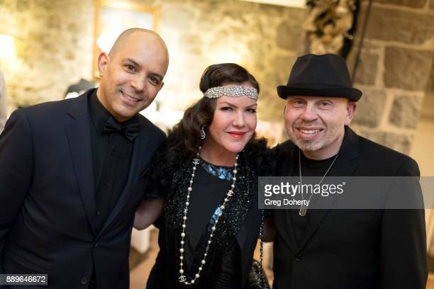 Actors Mark AdairRios Kira Reed Lorsch and Vince Lozano attend The Thalians Hollywood for Mental Health Holiday Party 2017 at the Bel Air Country...