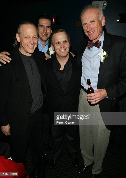 Actors Mark Blum Adam Trese director Scott Ellis and actor James Rebhorn attend the after party for the Roundabout Theatre Company's Broadway...