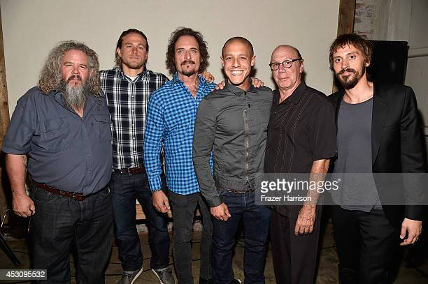 Actors Mark Boone Junior Charlie Hunnam Kim Coates Theo Rossi Dayton Callie and Niko Nicotera attend Cast of FX's Sons of Anarchy Host Boot Bash...