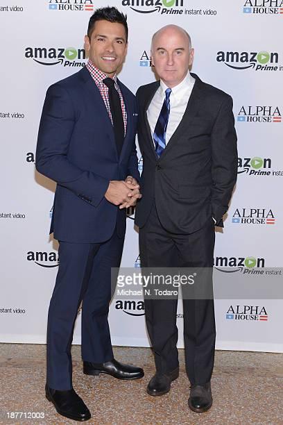 Actors Mark Consuelos and Matt Malloy attend Amazon Studios Premiere Screening for 'Alpha House' on November 11 2013 in New York City