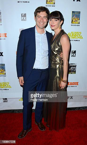 Actors Mark Duplass and Katie Aselton arrives at the Premiere Screenings of FX's It's Always Sunny In Philadelphia Season 8 and The League Season 4...