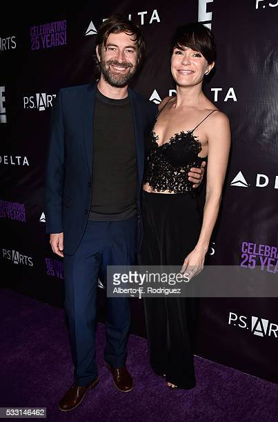 Actors Mark Duplass and Katie Aselton attend PS Arts' The pARTy at NeueHouse Hollywood on May 20 2016 in Los Angeles California