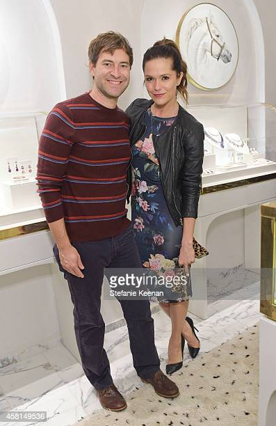 Actors Mark Duplass and Katie Aselton attend the Irene Neuwirth Flagship Grand Opening on October 30 2014 in West Hollywood California