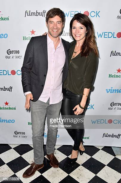 Actors MArk Duplass and Katie Aselton attends the screening party for Vimeo On Demand's New WebSeries 'Wedlock' at The Ace Hotel on September 25 2014...