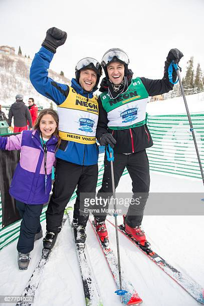 Actors Mark Feuerstein and Matthew Morrison attend day three of the 2016 Deer Valley Celebrity Skifest on December 4 2016 in Park City Utah