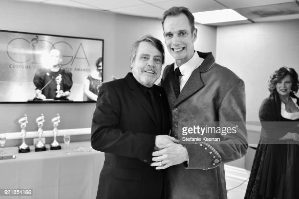 Actors Mark Hamill and Doug Jones attend the Costume Designers Guild Awards at The Beverly Hilton Hotel on February 20 2018 in Beverly Hills...