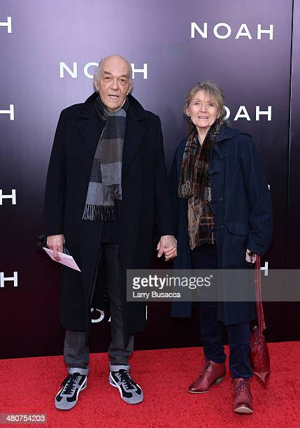 Actors Mark Margolis and Jacqueline Margolis attend the New York premiere of Paramount Pictures' 'Noah' at the Ziegfeld Theatre on March 26 2014 in...