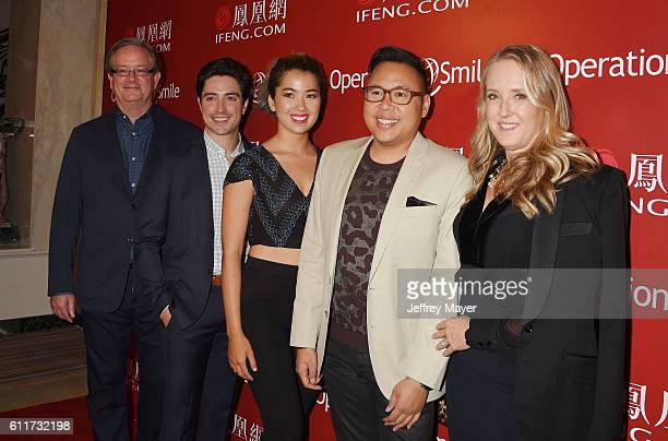 Actors Mark McKinney Ben Feldman Nichole Bloom Nico Santos and NBC Entertainment President Jennifer Salke arrive at Operation Smile's Annual Smile...