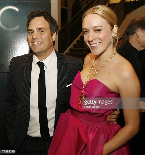 Actors Mark Ruffalo and Chloe Sevigny pose at the premiere of Paramount Picture's 'Zodiac' at the Paramount Theatre on March 1 2007 in Los Angeles...
