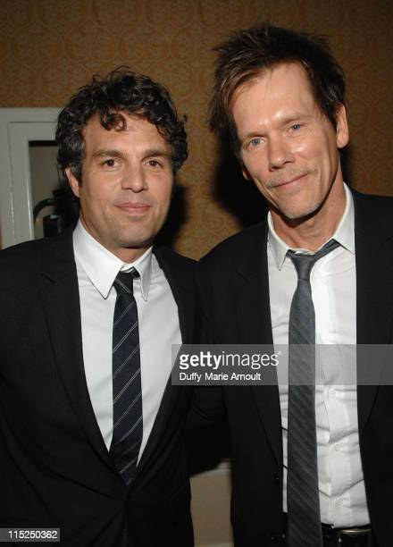 Actors Mark Ruffalo and Kevin Bacon attend Global Green USA's 15th annual Millenium Awards at the Fairmont Miramar Hotel on June 4 2011 in Santa...