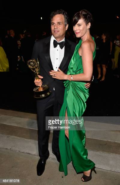 Actors Mark Ruffalo and Sunny Coigney attend the 66th Annual Primetime Emmy Awards Governors Ball held at Los Angeles Convention Center on August 25...