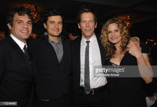Actors Mark Ruffalo Orlando Bloom Kevin Bacon and Kyra Sedgwick attend Global Green USA's 15th annual Millenium Awards at the Fairmont Miramar Hotel...
