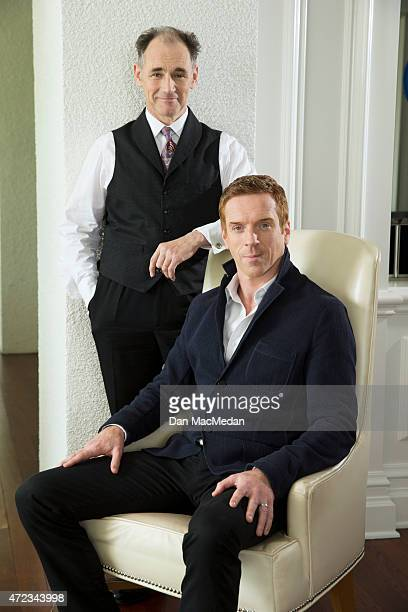 Actors Mark Rylance and Damian Lewis are photographed for USA Today on January 19 2015 in Pasadena California