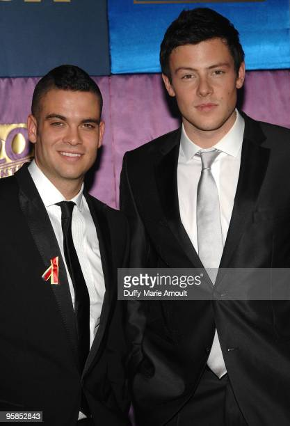Actors Mark Salling and Cory Monteith attend Fox's 2010 Golden Globes Awards Party at Craft on January 17 2010 in Century City California