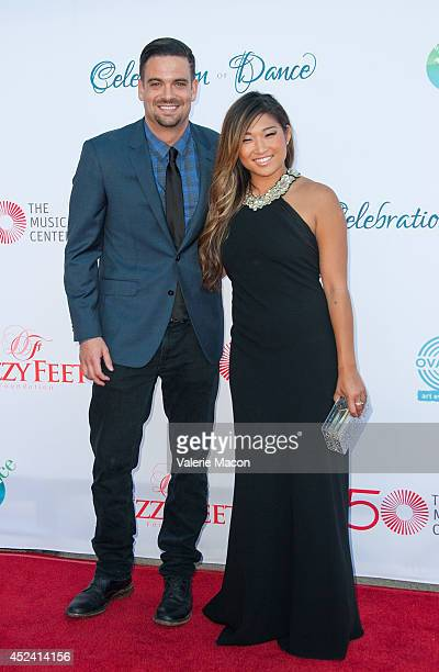 Actors Mark Salling and Jenna Ushkowitz arrive at the 4th Annual Celebration Of Dance Gala Presented By The Dizzy Feet Foundation at Dorothy Chandler...