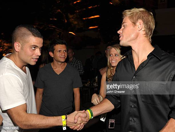 Actors Mark Salling and Trevor Donovan attend the after party for the Fallout New Vegas Launch Event Featuring Vampire Weekend at XS The Nightclub at...