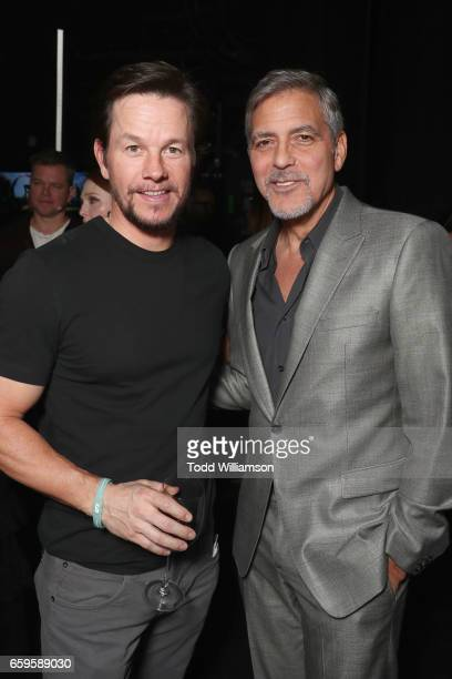 Actors Mark Wahlberg and George Clooney at CinemaCon 2017 Paramount Pictures Presentation Highlighting Its Summer of 2017 and Beyond at The Colosseum...