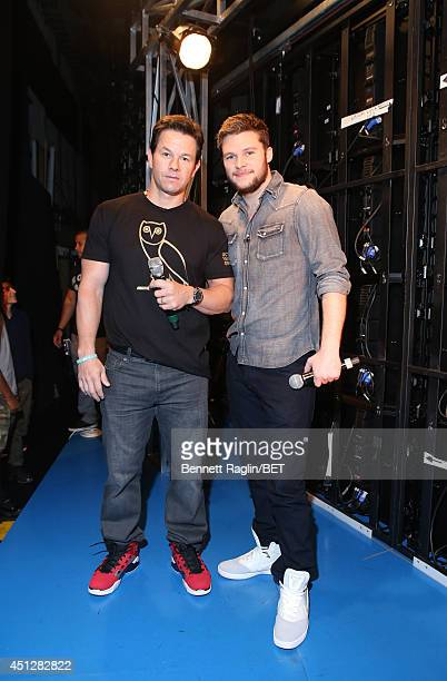 Actors Mark Wahlberg and Jack Reynor visit 106 Park at BET studio on June 25 2014 in New York City