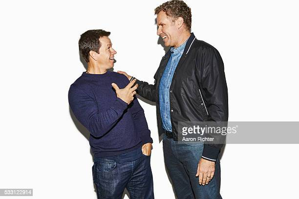 Actors Mark Wahlberg and Will Ferrell are photographed for People Magazine in December 2015 in New York City PUBLISHED IMAGE