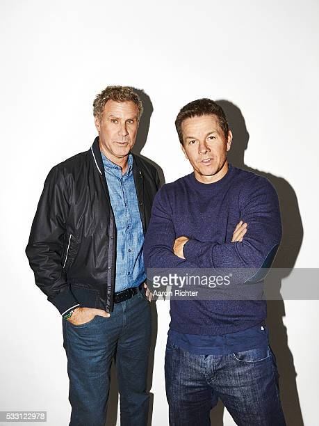 Actors Mark Wahlberg and Will Ferrell are photographed for People Magazine in December 2015 in New York City