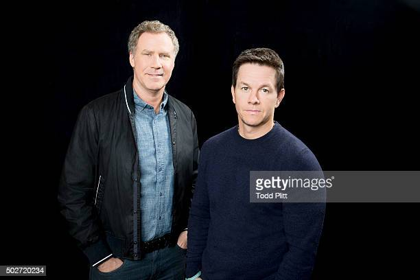 Actors Mark Wahlberg and Will Ferrell are photographed for USA Today on December 14 2015 in New York City