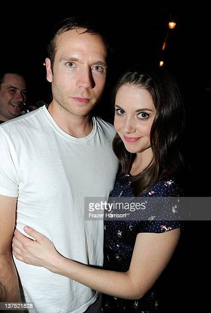 Actors Mark Webber and Alison Brie attend Sheets Energy Presents The Save The Date And End Of Love Party At Stella Artois By Ally B At The TMobile...