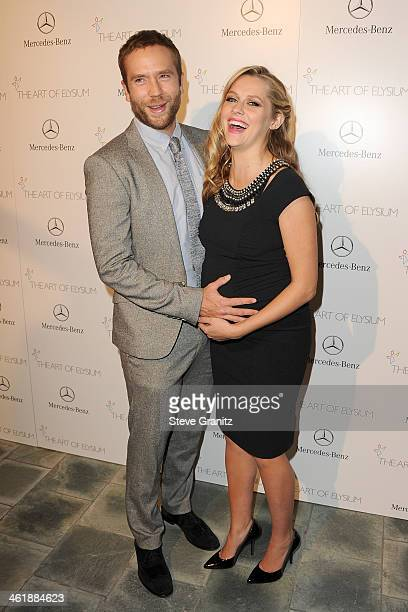 Actors Mark Webber and Teresa Palmer arrive at The Art of Elysium's 7th Annual HEAVEN Gala presented by Mercedes-Benz at Skirball Cultural Center on...