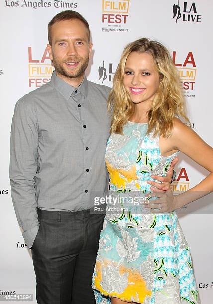 Actors Mark Webber and Teresa Palmer attend the premiere of The Ever After at the 2014 Los Angeles Film Festival at Regal Cinemas LA Live on June 12...
