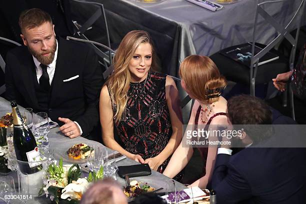 Actors Mark Webber and Teresa Palmer during The 23rd Annual Screen Actors Guild Awards at The Shrine Auditorium on January 29 2017 in Los Angeles...