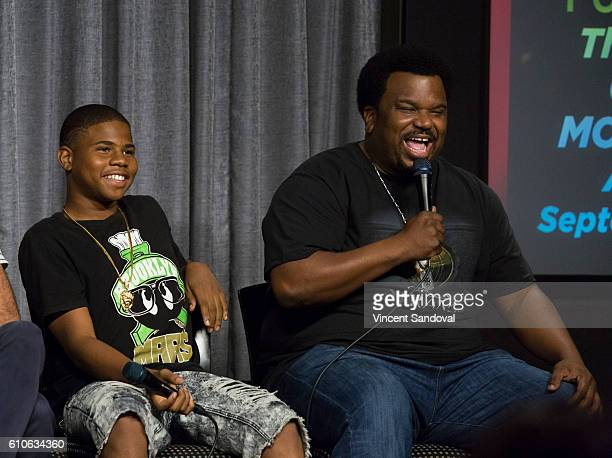 Actors Markees Christmas and Craig Robinson attend SAGAFTRA Foundation Conversations with 'Morris From America' at SAGAFTRA Foundation on September...