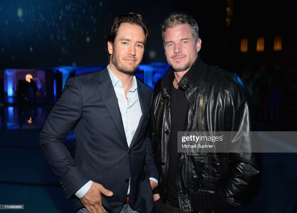 Actors Mark-Paul Gosselaar and Eric Dane attend TNT 25TH Anniversary Party during Turner Broadcasting's 2013 TCA Summer Tour at The Beverly Hilton Hotel on July 24, 2013 in Beverly Hills, California.