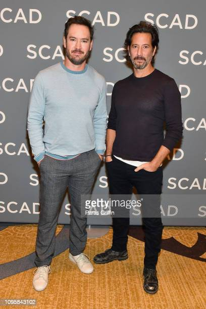 Actors MarkPaul Gosselaar and Henry Ian Cusick attend the The Passage press junket during SCAD aTVfest 2019 at Four Seasons Hotel on February 8 2019...