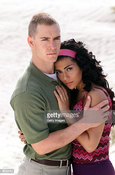 "Actors Mark-Paul Gosselaar and Marisol Nichols star in the NBC two-hour original movie ""The Princess and the Marine,"" based on the true love story..."