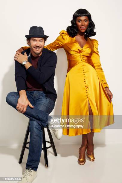 Actors MarkPaul Gosselaar and Tika Sumpter of ABC's 'Mixedish' pose for a portrait during the 2019 Summer TCA Portrait Studio at The Beverly Hilton...