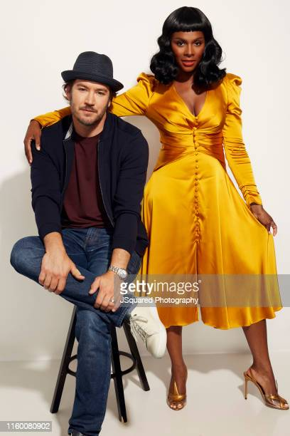 Actors Mark-Paul Gosselaar and Tika Sumpter of ABC's 'Mixed-ish' pose for a portrait during the 2019 Summer TCA Portrait Studio at The Beverly Hilton...