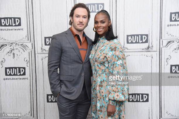 """Actors MarkPaul Gosselaar and Tika Sumpter visit the Build Series to discuss the ABC sitcom """"Mixedish"""" at Build Studio on September 20 2019 in New..."""