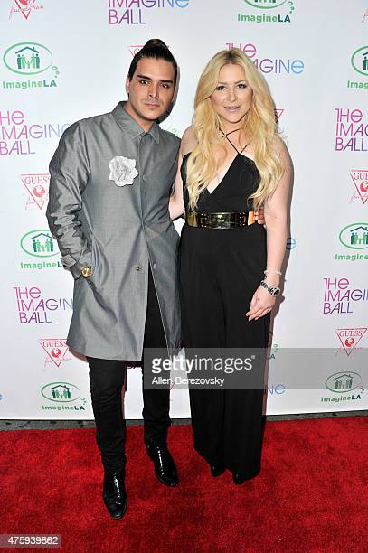 Actors Markus Molinari and Gabby Applegate attend The Imagine Ball Benefiting Imagine LA at House of Blues Sunset Strip on June 4 2015 in West...