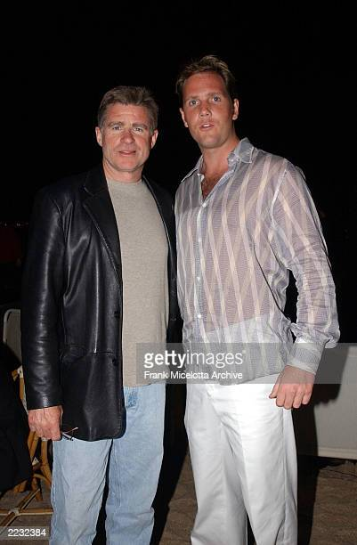 Actors Markus Thomas and Treat Williams at the party for 'Scorched' at the 55th Cannes Film Festival in Cannes France May 17 2002 Photo by Frank...
