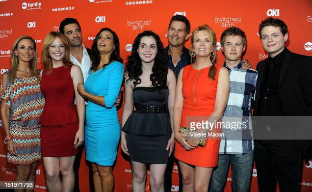 Actors Marlee Matlin Katie Leclerc Gilles Marini Constance Marie Vanessa Marano DW Moffett Lea Thompson Lucas Grabeel and Sean Berdy arrive at the...