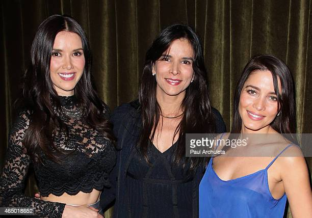 Actors Marlene Favela Patricia Velasquez and Adriana Fonseca attend the book release party for 'Straight Walk A Supermodel's Journey To Finding Her...