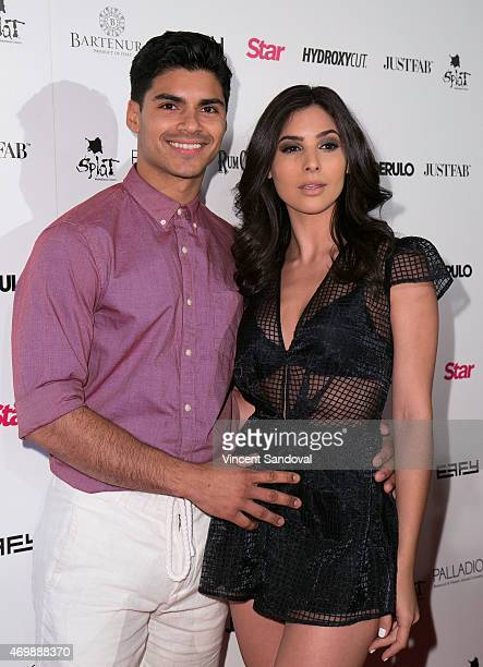 Actors Marlon Aquino and Camila Banus attend Hollywood Rocks Presents Jason Derulo listening party for Everything Is 4 at The Argyle on April 15 2015...