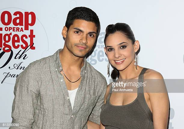 Actors Marlon Aquino and Camila Banus attend Soap Opera Digest's 40th Anniversary celebration at The Argyle on February 24 2016 in Hollywood...