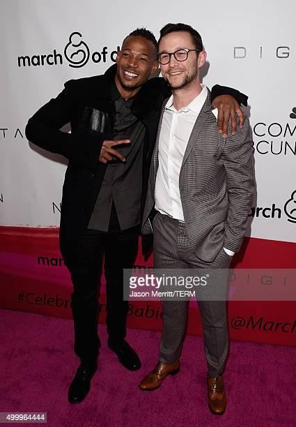 Actors Marlon Wayans and Joseph Gordon-Levitt attend the March Of Dimes Celebration Of Babies Luncheon honoring Jessica Alba at the Beverly Wilshire...