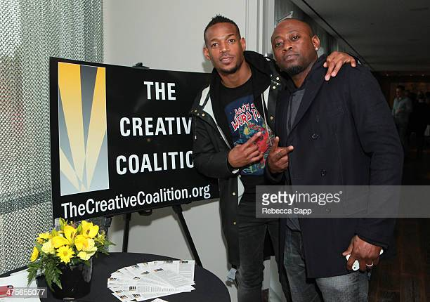 Actors Marlon Wayans and Omar Epps attend Kari Feinstein's PreAcademy Awards Style Lounge at the Andaz West Hollywood on February 28 2014 in Los...