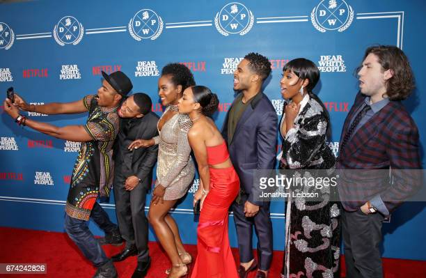 Actors Marque Richardson DeRon Horton Antoinette Robertson Logan Browning Brandon P Bell Ashley Blaine Featherson and John Patrick Amedori take a...